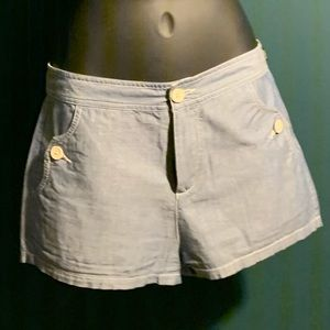 NWOT WEZC blue/white button shorts (6/$14)